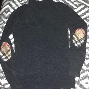 Burberry nova check elbow patch v-neck sweater